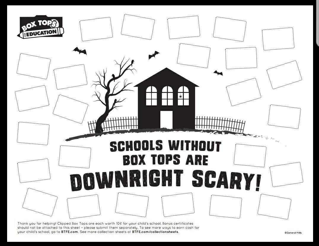 picture relating to Printable Box Tops Collection Sheets identified as Halloween Box Tops Printable and Sweepstake Cats inside the