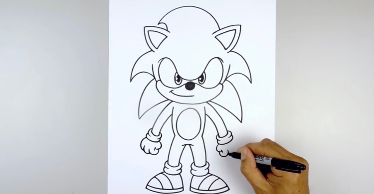 How To Draw Sonic The Hedgehog Cats In The Cradle Blog